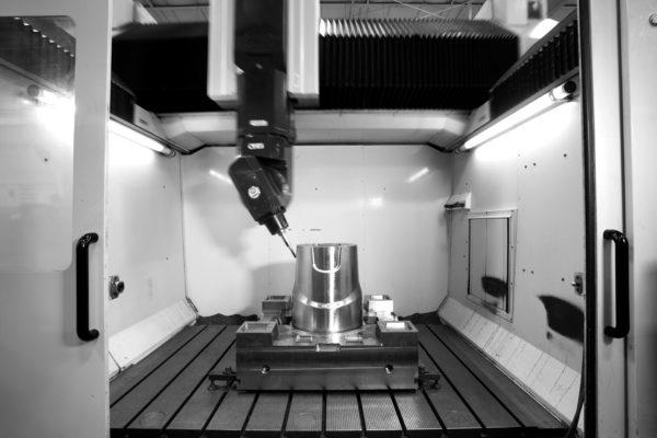 robot creating large machine part